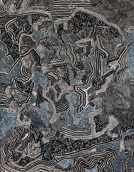 David Paul Kay, 'Geometric Abstraction, black and white landscape- 'Landscape'', 2020