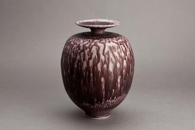 Brother Thomas Bezanson, 'Vase, dark red textured nickel glaze'