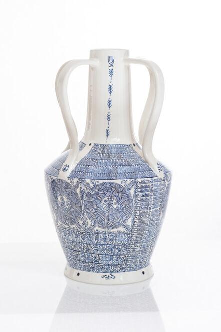 Rachid Koraïchi, 'From the series Lachrymatoires Bleues - Blue Lachrymatory Vases (ii)', 2020