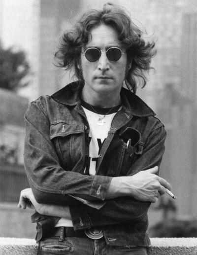 Bob Gruen, 'John Lennon with Denim Jacket, New York City', 1974