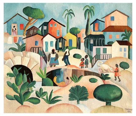 Tarsila do Amaral, 'Tapestry Tarsila do Amaral - Morro da Favela', 2016