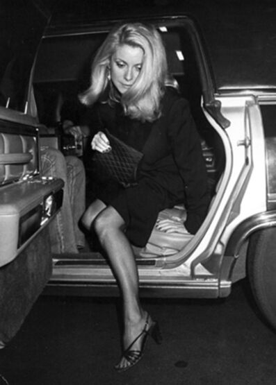 Ron Galella, 'Catherine Deneuve arriving at a party at the Rock Lounge honoring Francois Truffaut during the New York Film Festival, New York', 1980