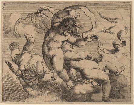 Cornelis Schut I, 'Three Flying Putti'