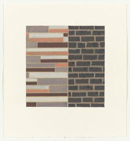 Julia Fish, 'Study for Bricks and Siding, South Wall #1', 1996