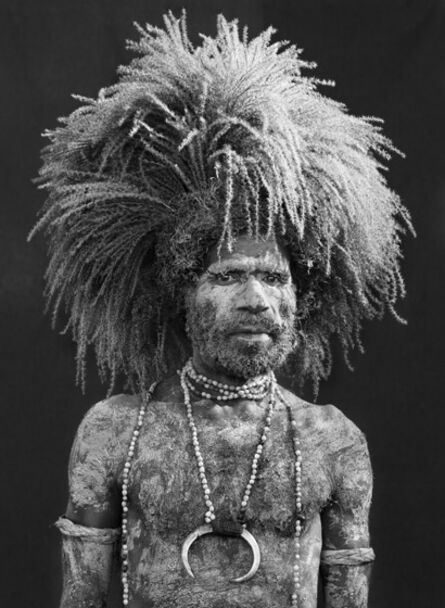 Sebastião Salgado, 'Performer of the singsing festival of Mount Hagen. Western Highlands Province. Papua New Guinea.'