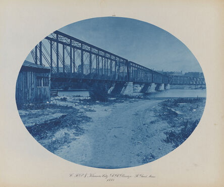 Henry Peter Bosse, 'Chicago, St. Paul, and Kansas City Railroad Bridge, St. Paul, Minnesota', 1885