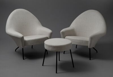 Joseph-André Motte, 'Pair of armchairs and stool 770', 1958