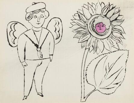 Andy Warhol, 'From In the Bottom of My Garden: one plate (Feldman & Schellmann IV.100)', ca. 1956