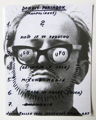 Július Koller, 'Slovenský Trans-Art', 1990