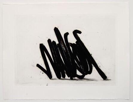 Bernar Venet, 'Two indeterminate lines', 2014