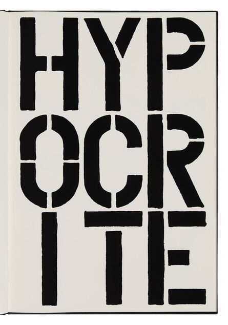 Christopher Wool, 'Hypocrite (page from Black Book) ', 1989