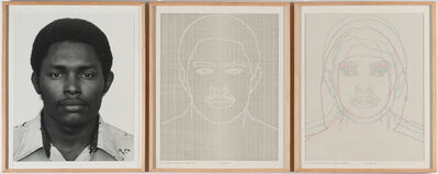 Charles Gaines, 'Faces, Set #4: Stephan W. Walls', 1978