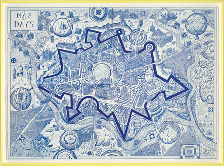 Grayson Perry, 'A Map of Days (blue)', 2013