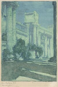 Benjamin Chambers Brown, 'Art Palace, S.F. Moonlight (Panama Pacific International Exposition)', 1915
