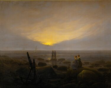 Caspar David Friedrich, 'Moonrise on the Seashore', 1821