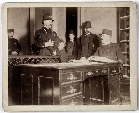 Richard Hoe Lawrence, '[Bringing foundling to police]', ca. 1895