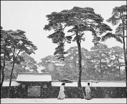Werner Bischof, 'Courtyard of the Meiji shrine , Tokyo, Japan', 1951