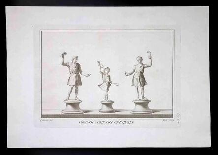 Carlo Nolli, 'Ancient Roman Statues with Grails', 18th Century