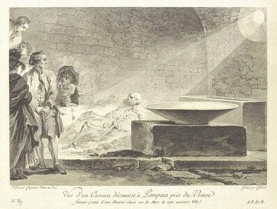 Jean Claude Richard de Saint-Non (author), 'Vue d'un caveau d'couvert … Pompeia prŠs du Vesuve', 1781