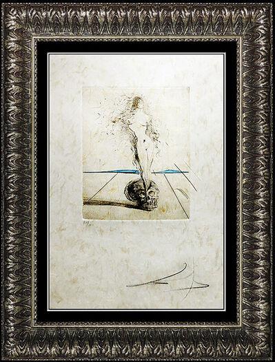 Salvador Dalí, 'Salvador Dali Authentic Color Etching HAND SIGNED Nude Female Portrait Vanite', 1950-1969