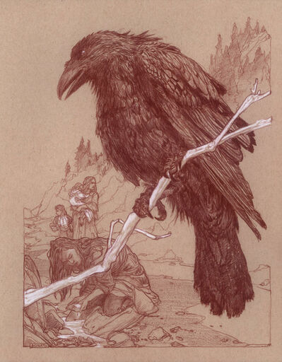 Donato Giancola, 'Uprooted - Chapter 25: The Raven', 2019
