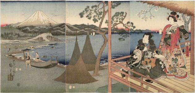 Utagawa Toyokuni III (Utagawa Kunisada), 'Scenery of Tago Bay', 1857
