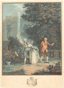 Louis Le Coeur after Nicolas Lavreince, 'Colin-maillard', 1789