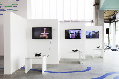 """'Installation view from """"The Family Tree of Russian Contemporary Art""""', Early 2000s"""
