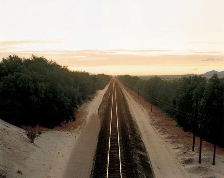 Richard Misrach, 'Train Tracks, Colorado Desert, California', 1984