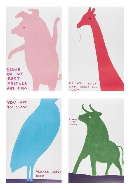David Shrigley, 'Four Posters', 2020