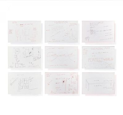 """Jason Rhoades, 'Perfect World. 48 drawings from the project """"Perfect World"""".', 2000"""