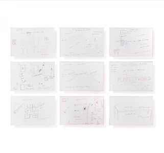 "Jason Rhoades, 'Perfect World. 48 drawings from the project ""Perfect World"".', 2000"