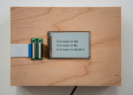 Zach Gage, 'is it scary to...', 2015/2016