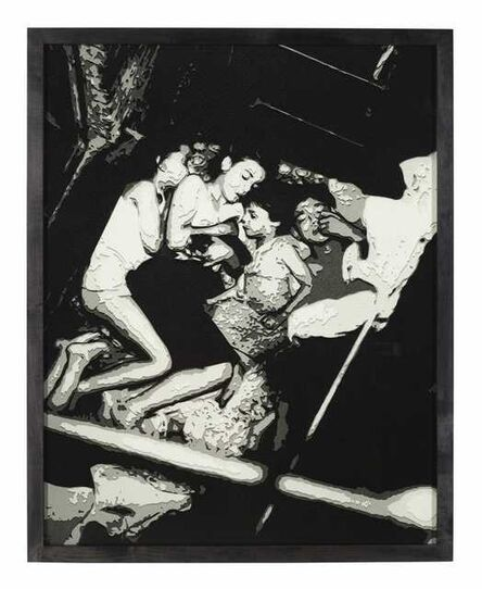 Vik Muniz, 'Pictures of Paper: Heat Spell, after Weegee', 2008