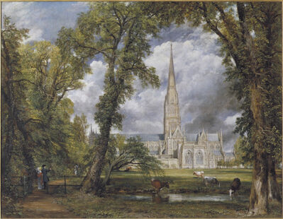 John Constable, 'Salisbury Cathedral from the Bishop's Ground', 1823