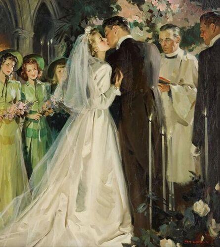 Tom Lovell, 'Bridal White', 1941