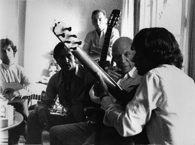 Lucien Clergue, 'Picasso et Manitas de Plata à Notre-Dame de Vie, Mougines', 1968