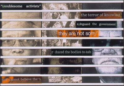 Sue Williamson, 'Truth Games: Joyce Mtimkulu – to ash – Col. Nic van Rernsburg', 1998