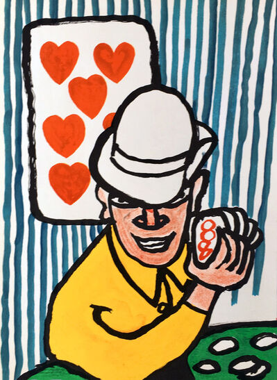 Alexander Calder, 'Calder Las Vegas Card player, from Derriere Le Miroir', 1975