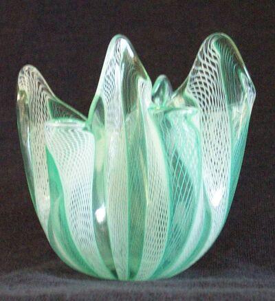 Venini, 'Venini Handkerchief Fazzoletto vase', Mid 20th century