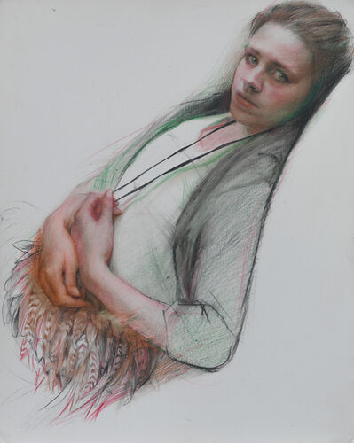 Steven Assael, 'Nicole with Feathered Purse', 2009