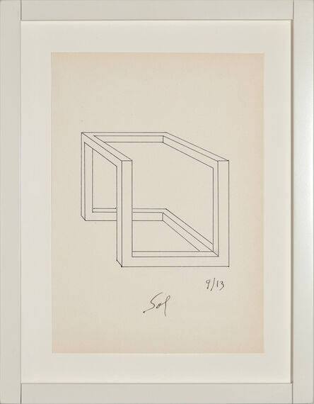 Sol LeWitt, 'Drawing for Incomplete Open Cube 9/13', 1973