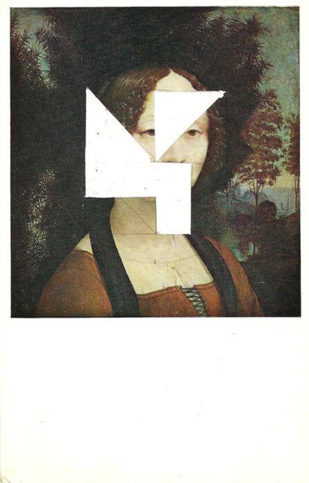 Rodolfo Díaz Cervantes, 'Estudio para permutaciones - postal retratos (mujer)', 2015