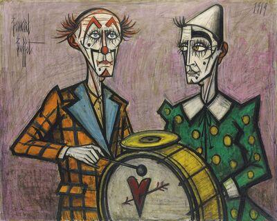 Bernard Buffet, 'Deux clowns à la grosse caisse', 1989