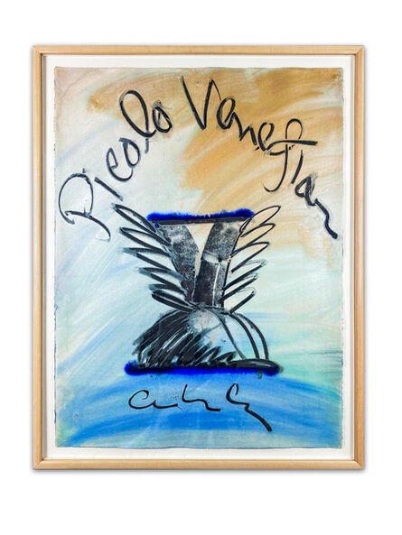 Dale Chihuly, 'Dale Chihuly Picolo Venetian Charcoal and Pastel Contemporary Art Drawing', C. 1997 -1999