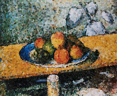 Vik Muniz, 'Apples, Peaches, Pears and Grapes, After Cezanne', 2003