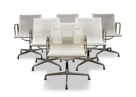 Charles and Ray Eames, 'a set of six 'EA108' office armchairs, for Vitra', c.1990's