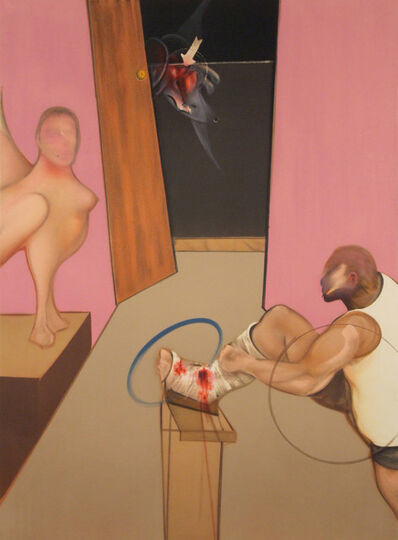 Francis Bacon, 'Oedipus and the Sphinx', 1983