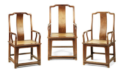 """Unknown Designer, 'Set of three """"southern official's"""" armchairs', 17th century"""