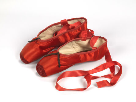 'Red ballet shoes made for Victoria Page (Moira Shearer) in The Red Shoes (1948)', 1948